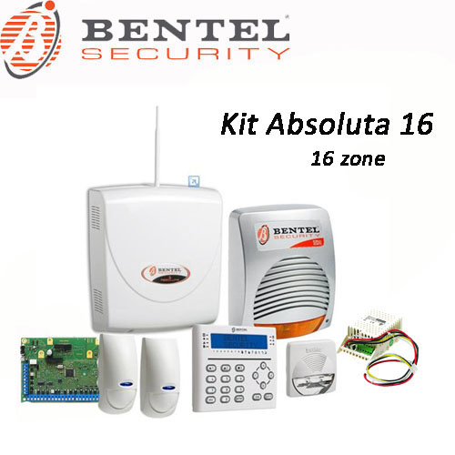 Kit allarme filare 8 zone espandibile a 16 bentel security for Bentel call pi
